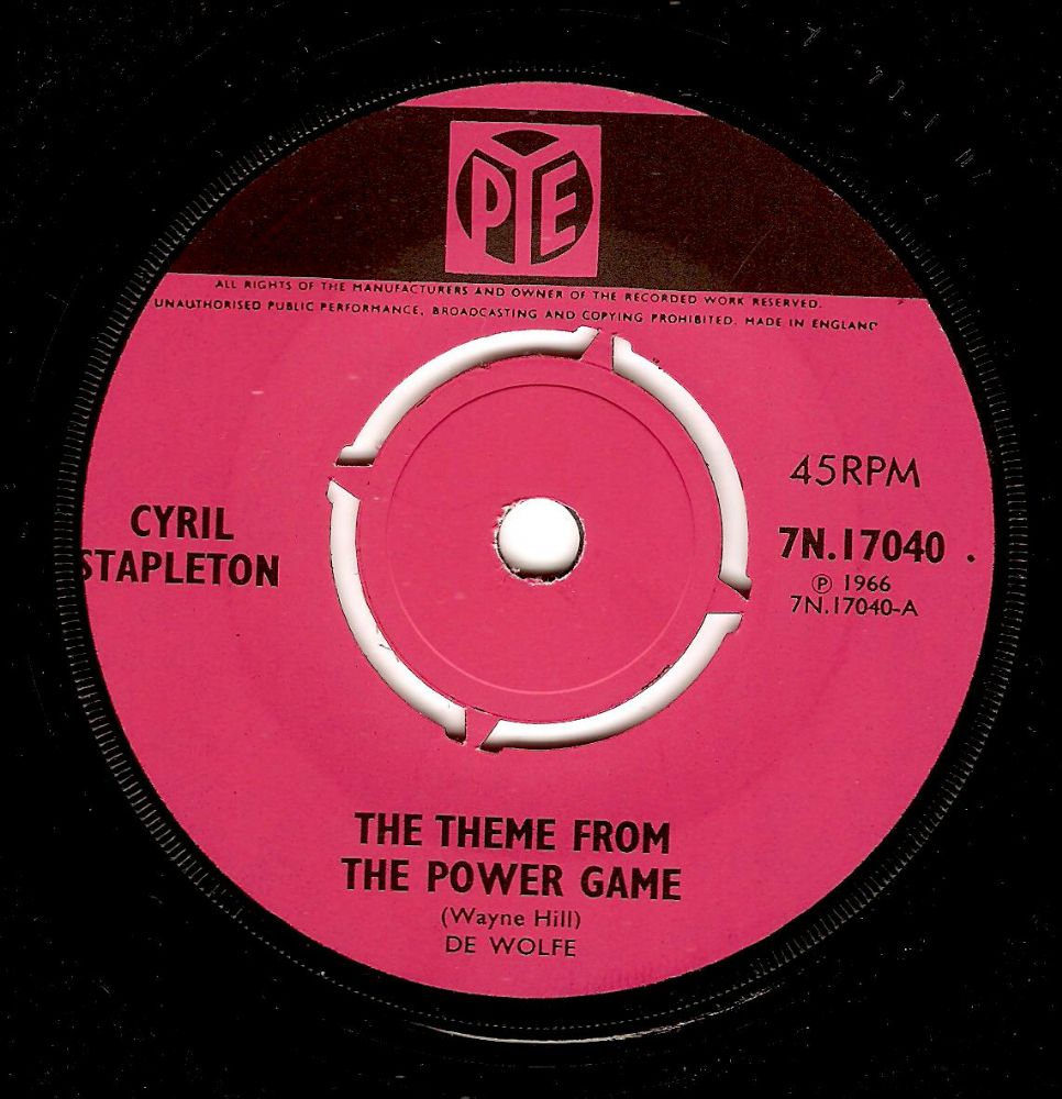CYRIL STAPLETON The Theme From The Power Game Vinyl Record 7 Inch Pye 1966